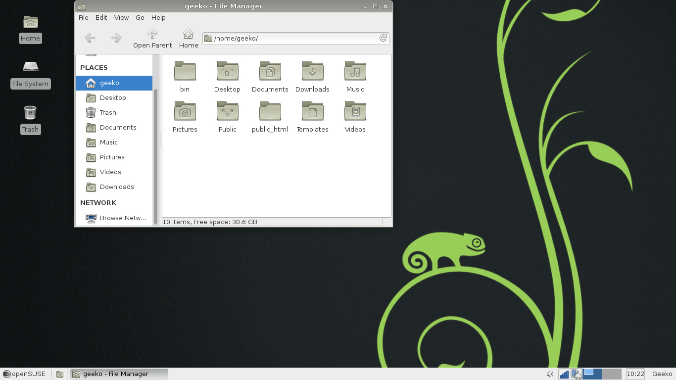OpenSUSE 12.3 xfce filemanager.jpg