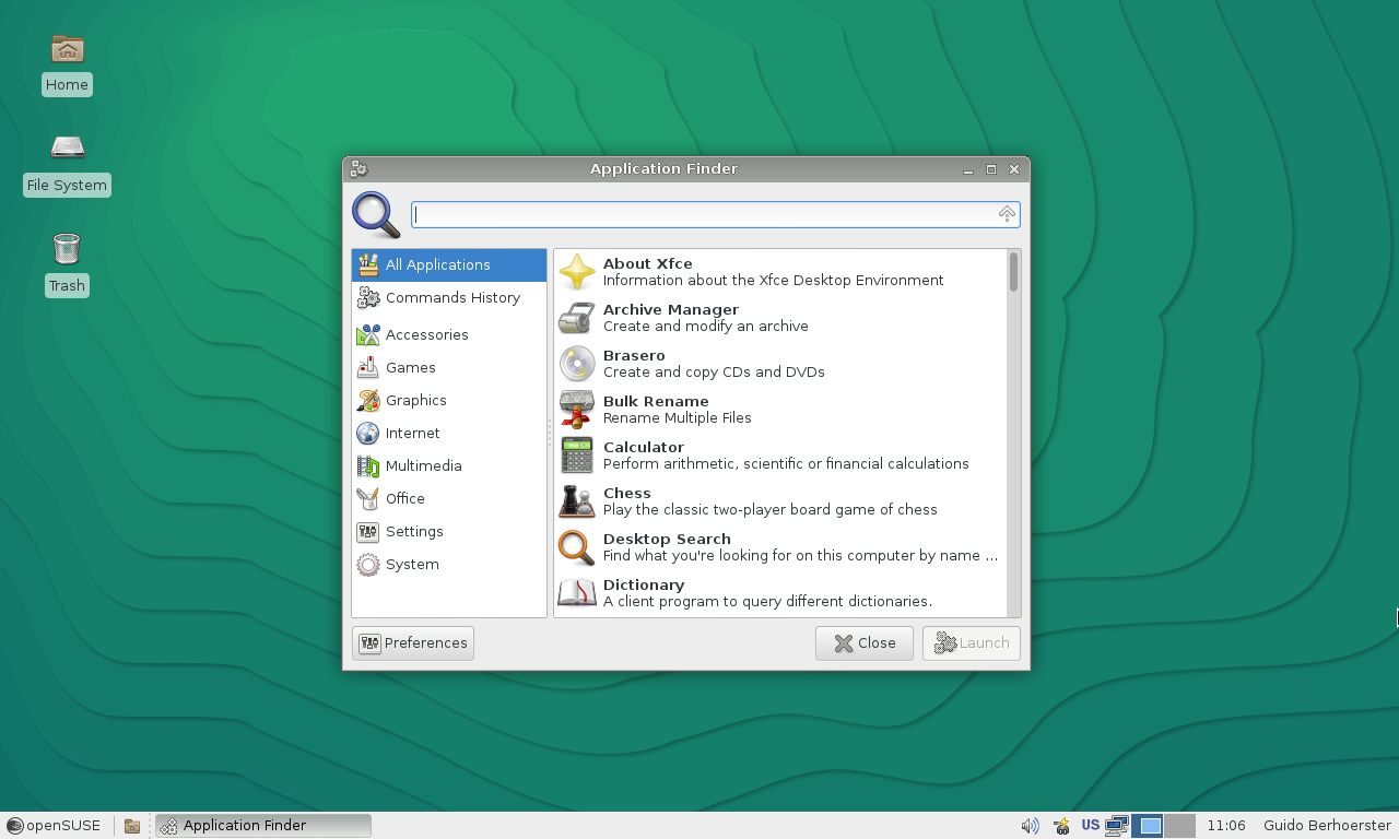 13.2 - Xfce - Application finder.png